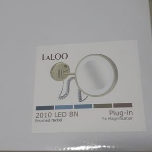 Laloo Accessories Bath - 5x Magnification Mirror lighted Plug in Br Nick